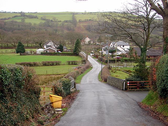 Lane to Pont Rheidol and Rhiwarthen