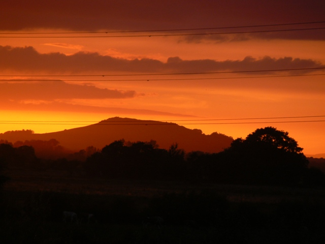 Brent Knoll at sunset