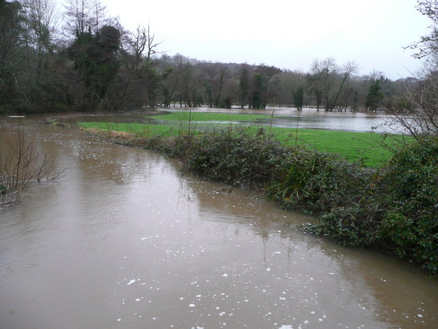 Flooded Huntshaw meets the Torridge