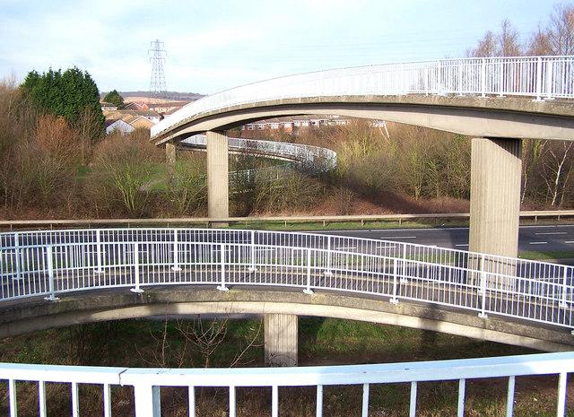 Footbridge over Snodland bypass
