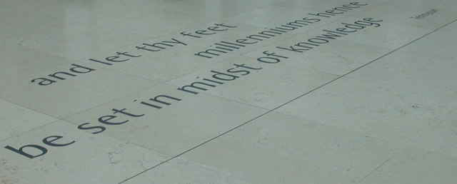Quotation on floor of Great Court, British Museum