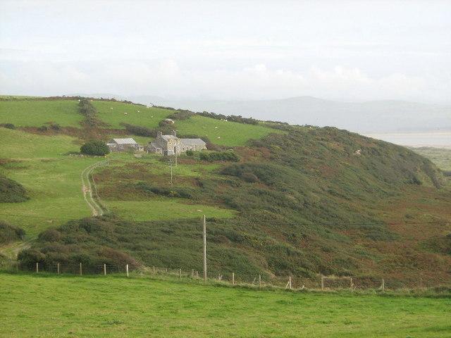 Looking towards Cefn farm
