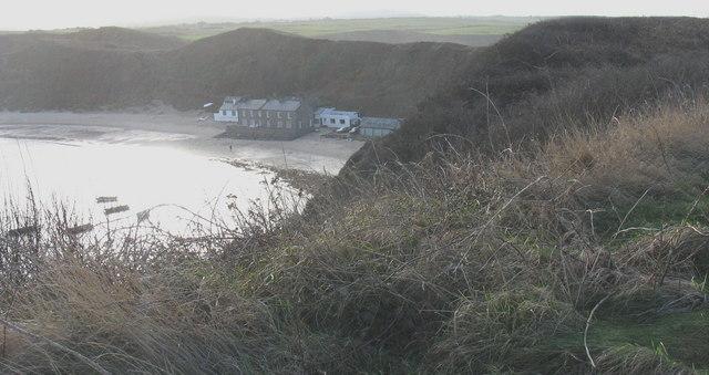 Beachside houses at Porthdinllaen