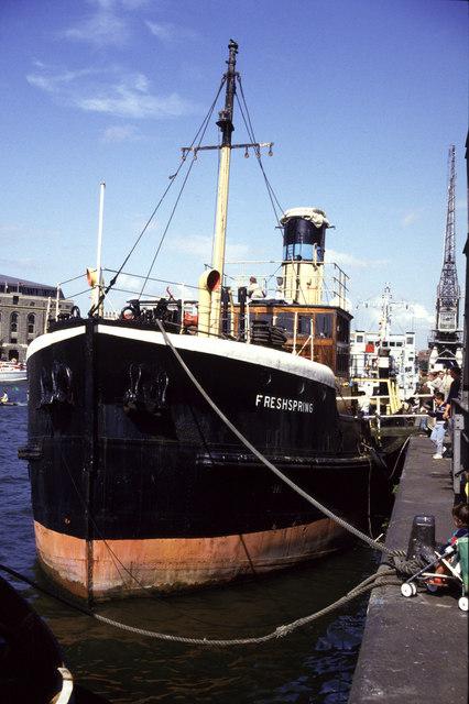 Steam Ship Freshspring, Prince's Wharf, Bristol