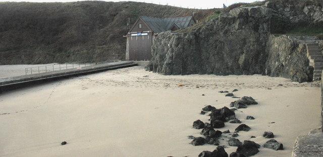 The RNLI slipway at Porthdinllaen