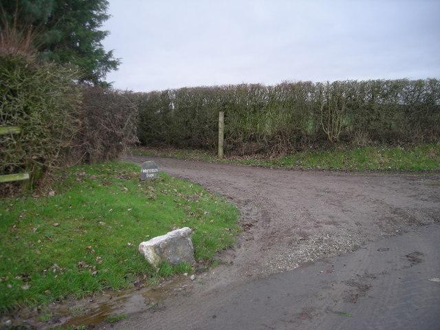 Entrance to Whitefields Farm