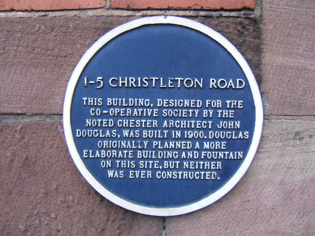 Blue Plaque, 1-5 Christleton Road