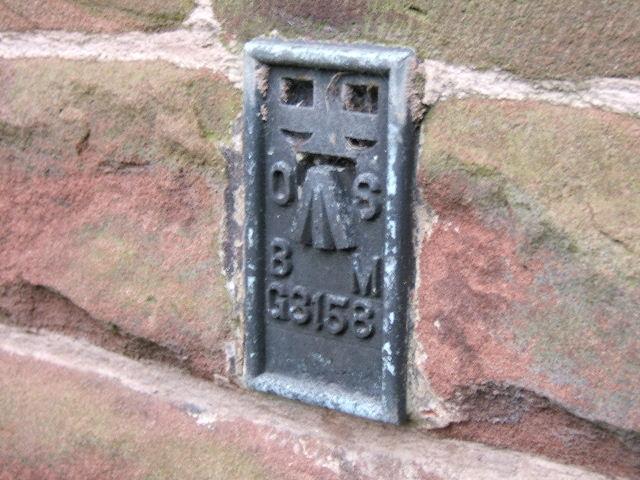 Benchmark, on All Saints Church, Hoole, Chester