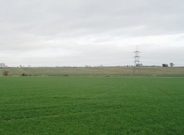 Arable fields near Upton