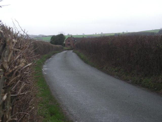 Lane between Alcaston and Upper Affcot