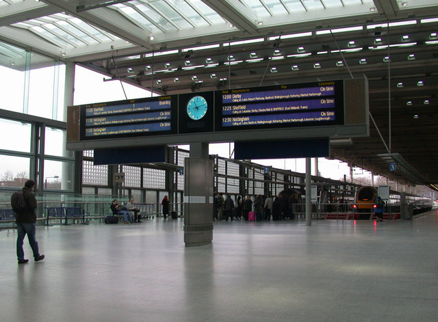 Domestic services departure board, St Pancras