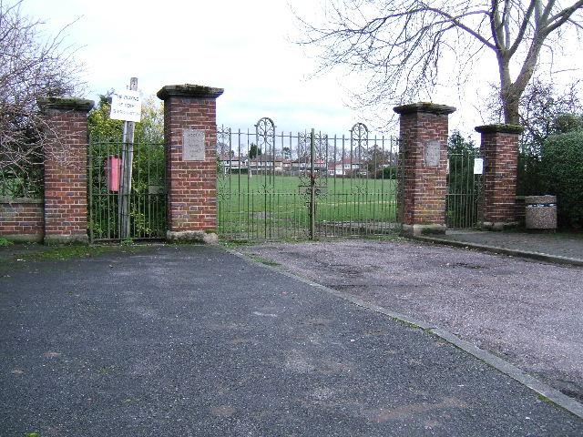 Coronation Playing Field Gates