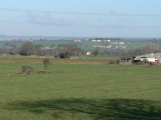 Fields and Mudgely from Westhay