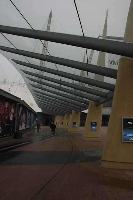 Covered walkway, O2 Arena