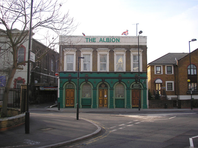 The 'Albion' public house, Lauriston Road, South Hackney