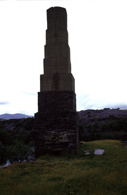 Dorothea beam engine - chimney