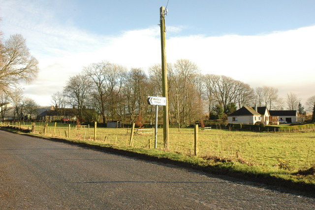 Logie Newton and signpost for Wells of Ythan