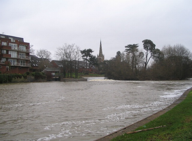Weir and Holy Trinity church