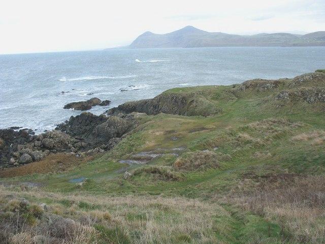 The north-eastern tip of Trwyn Porthdinllaen