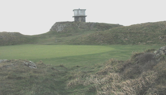 The northernmost green of the Porthdinllaen Golf Course