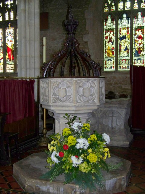 Font, St Mary's Church, Bruton