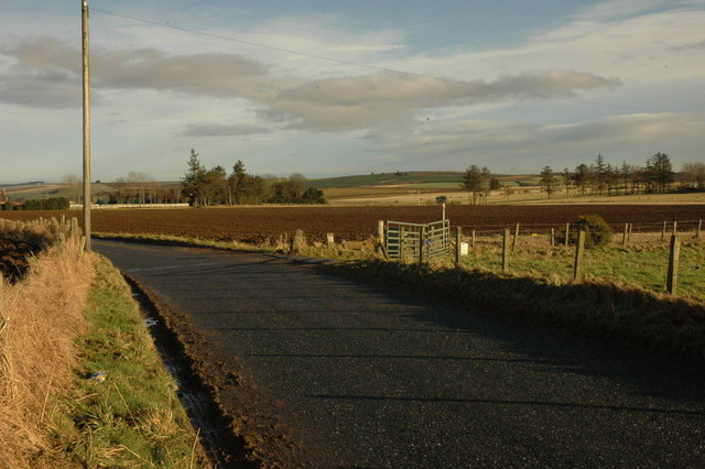 Country road near Logie Newton