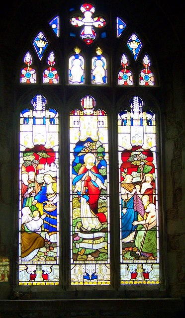 Stained glass window, St Mary's Church, Bruton