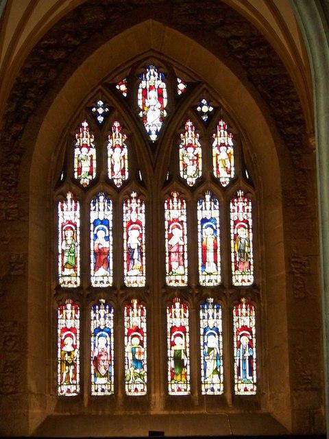 West window, St Mary's Church, Bruton