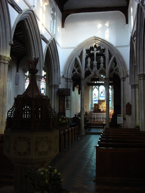 The church of St. Mary the Virgin's interior
