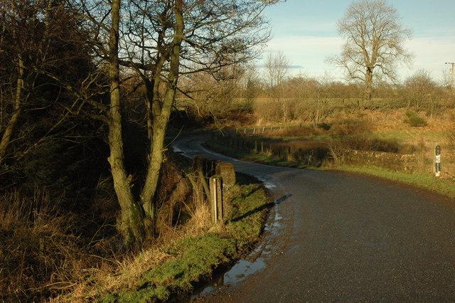 Road and bridge over the Black Burn