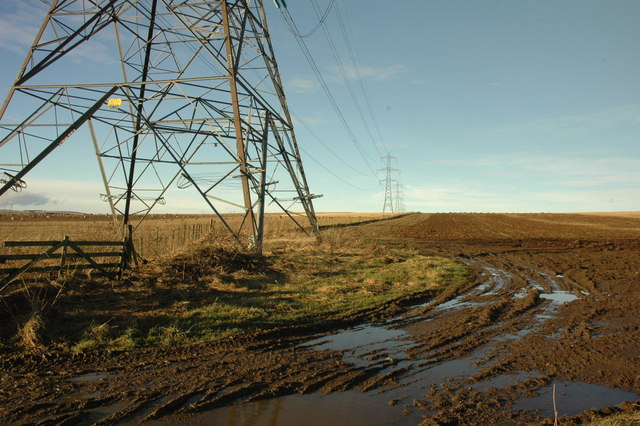 Powerlines and farmland