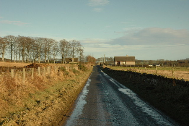 Country road west of Blackford