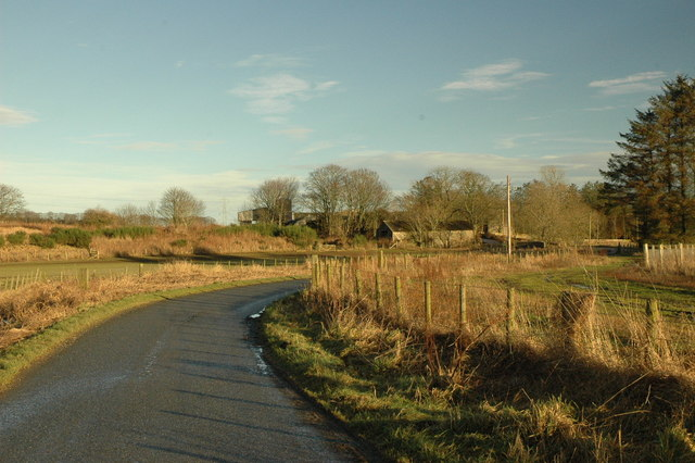 Country road near Overhill Farm