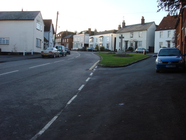 High Street and war memorial, Great Bardfield