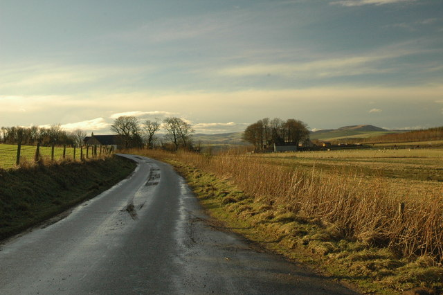Country road near Cross of Jackston