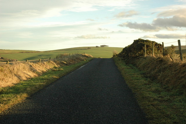 Country road near Mill of Burns farm.