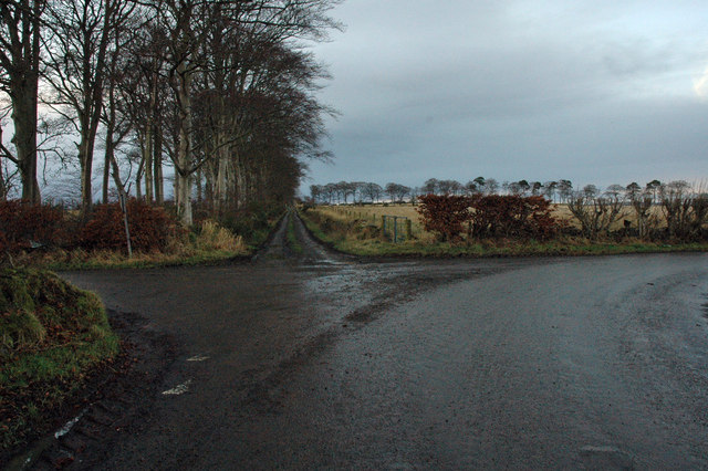 Road junction west of Inverkeithny