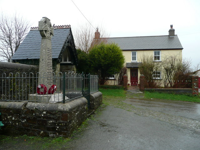 War memorial, lychgate and cottage