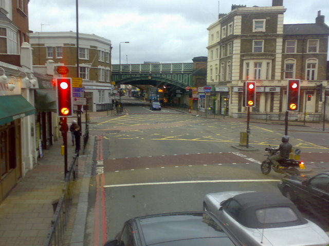 Battersea Park Road, junction with Queenstown Road, London SW8