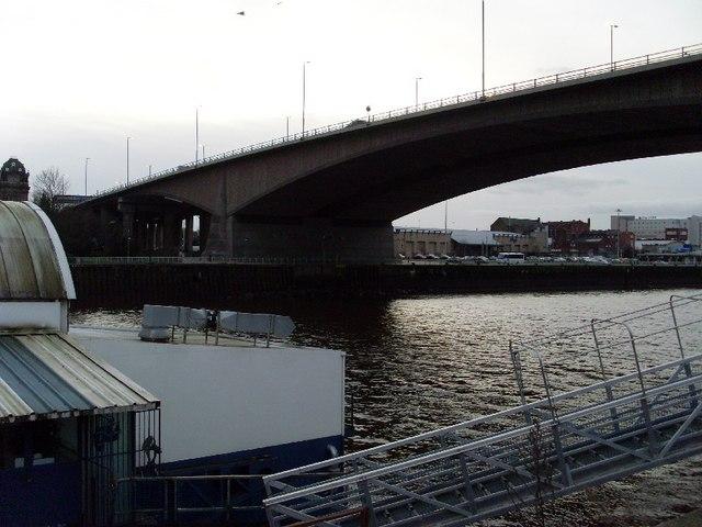 Kingston Bridge over River Clyde
