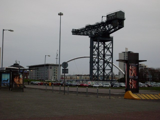 Across Finnieston from outside the SECC