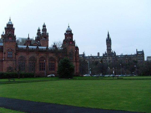 Glasgow University and Kelvingrove Museum and Art Gallery
