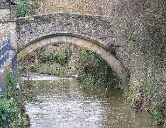 Packhorse bridge over the River Brue