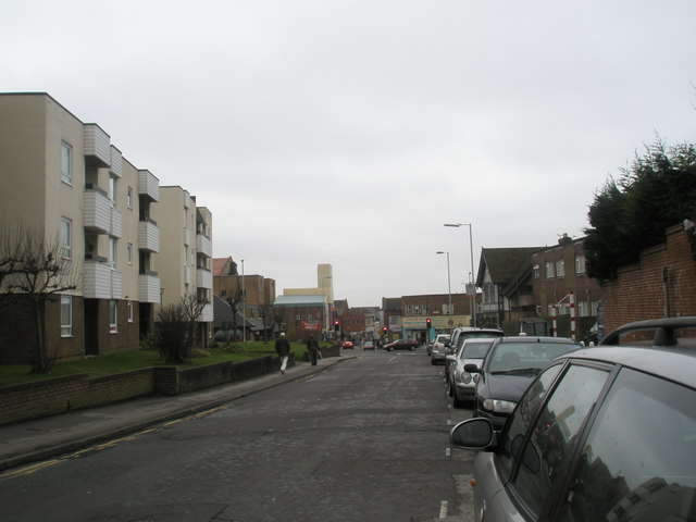 Looking towards crossroads at Cosham