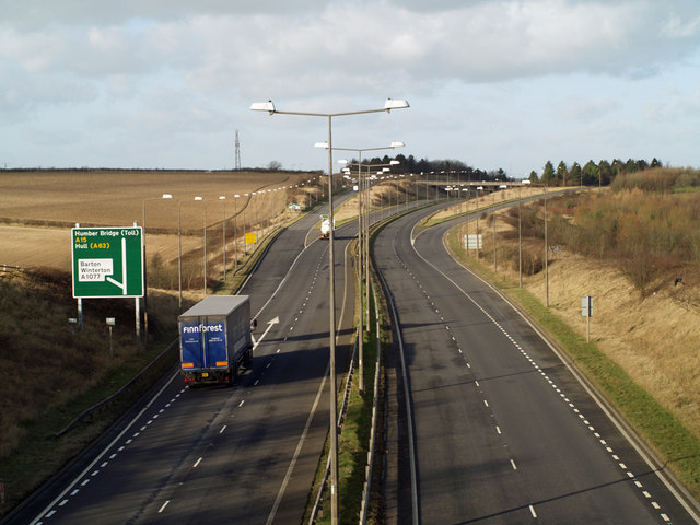Junction of A15 and A1077