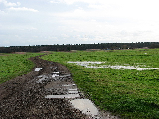 Private farm track on The Island