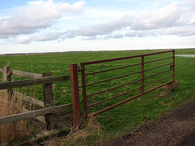 Open gate into the Chedgrave Marshes