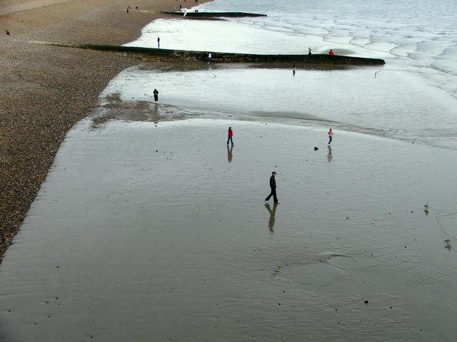 Brighton Beach from Brighton Pier, East Sussex