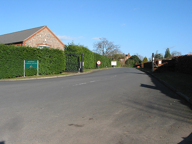 Wide entrance to Highnam Business Centre