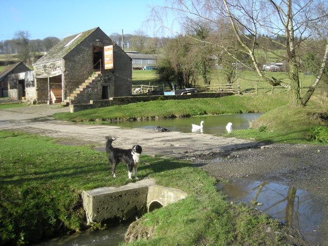 Farm entrance at Middlehope